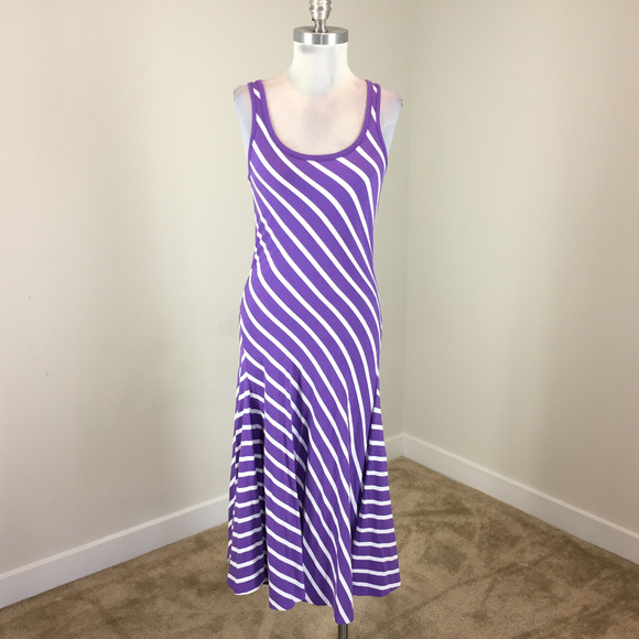 949152bc5670 ... Purple White Stripe Midi Dress. M 5c8ab71a7386bc33ad68dd46
